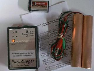 ParaZapper ™ parasite zapper with standard copper paddles.